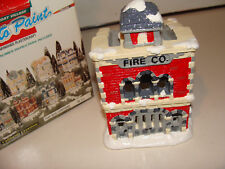 California Creations Holiday Christmas Village Hand Painted Fire Station  SE 171