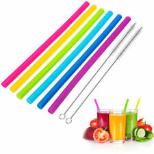 Reusable Drinking Straws 4 XL BOBA Bamboo Straws for Bubble Tea /& Smoothie