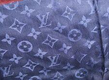 100% Authentic Louis Vuitton 60% SILK-40% WOOL LV MONOGRAM BLUE Scarf.