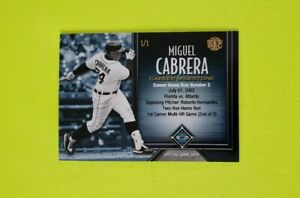 2017 Honus Fantasy Baseball Carriera Milestones #83 Miguel Cabrera Hr / 446 3