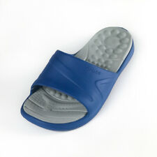 CROCS  MENS REVIVA SLIDE (BLUE JEAN/LIGHT GREY)