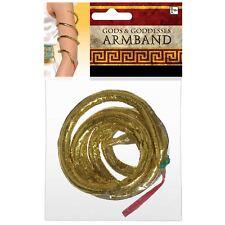 Adult Ladies Egyptian Queen Cleopatra Greek Goddess Snake Armband Fancy Dress