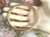 Vintage Retro Jewellery Gold Golf Bangle Mod Jewelry 20 cm 8 inch Modernist