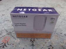Netgear Gs605 5 Port Unmanaged Gigabit Ethernet Switch Hub Sealed Brand New Nib