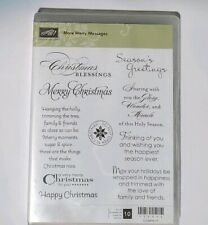 Stampin Up MORE MERRY MESSAGES stamps Christmas blessing's Seasons greetings
