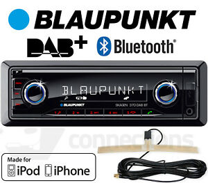 Blaupunkt Skagen 370 DAB BT Bluetooth digital car radio stereo aerial MP3 iPhone