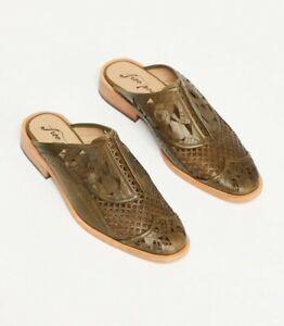 Free People Womens Paramount Slip On Shoes Khaki Size EU 37