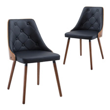 Simplife Black Sarah Faux Leather Dining Chair (Set of 2)