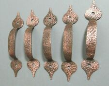 Vintage hammered copped draw pulls lot of 5