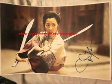 Michelle Yeoh Crouching Tiger Hidden Dragon Movie Shu Lien Signed 12x18 Reprint
