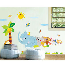 Cartoon Animal World Baby Kids Children Room Decal Removable Wall Sticker Decor