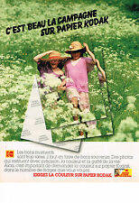 PUBLICITE ADVERTISING   1980   KODAK    papier film photo