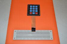 NEW! BREAD BOARD READY 4 x3 Matrix Array 12 Key Membrane Switch Keypad Keyboard