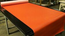 "Faux Leather Vinyl Fabric Brite Orange Auto Upholstry 5 Yards 54"" Wide Pleather"