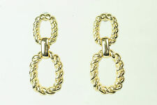 LADIES KNURLED GOLD HOOP EARRINGS BRAND NEW UNIQUE ITEM (CL10)