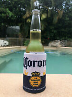 New Corona Stubby Beer Drink Can Cooler Bottle Stubbie Holder Sleeve Insulator