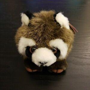 """PUFFKINS Raccoon  Bandit No Hang Tags 5"""" SWIBCO PLUSH COLLECTIBLE MJC"""