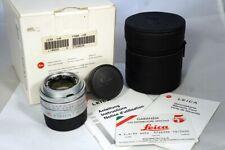 LEICA 35/2 SUMMICRON-M ASPH. SILVER complete BOXED NEAR MINT