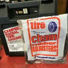 NEW  snow tire chains +ADJUSTER P205/75R15 P225/60R16 P215/70R15 P215/65R15 8
