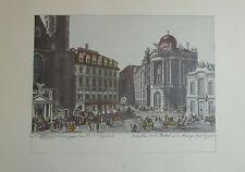 Carl Schütz DER MICHAELS PLATZ Wien Kunstblatt Reproduktion print