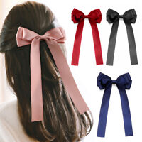 Women Girls Ribbon Bow Hair Clip French Barrette Hairpin Hair Accessories New