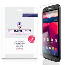 iLlumiShield Screen Protector w Anti-Bubble/Print 3x for Blu Dash X Plus 5.5
