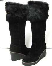 UGG VALBERG WOMEN HEELS TALL BOOTS SUEDE BLACK  US 7 /UK 5.5 /EU 37 /JP 24