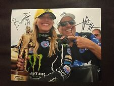 John And Brittany Force Signed 8 X 10 Photo Autographed