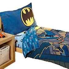 Batman Bedding Set Toddler Crib Boys Kids 4 Piece Bedspread Sheets Gift New