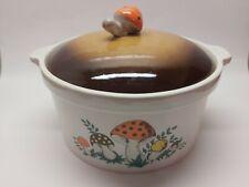 RARE: Vintage Mid Century Merry Mushroom Bean Pot