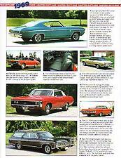 1969 Chevy + Chevelle + Camaro + Impala + Yenko + Corvair Article - Must See !!