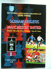 MINT 1993/94 Oldham Athletic v Manchester United FA Cup S/F