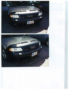 Colgan Front End Mask Bra 2pc. Fits Audi A8 2000-2003 W/License Plate