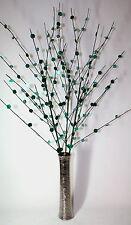 Artificial Arrangement Teal Bead Disk Branch Spray Stem in Vase 85cm High.