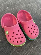 Crocs Kids Pink Rainbow 8C