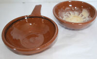 Kimmswick Pottery MO 2 Bowls Red Clay Stoneware Dip Sauce Candy Nut Serving Dish