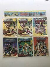 1980s Masters of the Universe He-Man Mini Comic Lot Of 6 MOTU  Lenticular Ruler