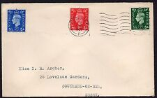 KGVI 1st Day Cover 10 May 1937  used in London to Southend on Sea