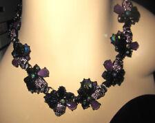 Betsey Johnson Necklace Collar Dark Magic Skull K1te