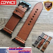For Apple Watch Series 1~4 Luxury Retro Genuine Leather iWatch Band Wrist Strap