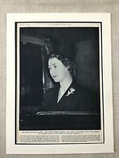 1952 Print Royal Family Queen Elizabeth II Mourning King George IV Death