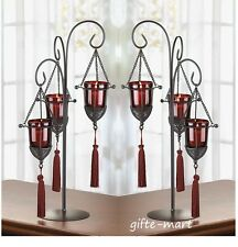 5 large goth red black candelabra throne candle holder wedding table centerpiece