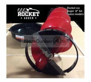"28507 Eskimo Rocket ICE FISHING POWER AUGER ICE DRILL 8"" BIT MFG REFURB"