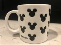 Vintage Disney ~Mickey Mouse Ears Coffee Tea Cup Mug ~Silhouette ~Logo~12 oz