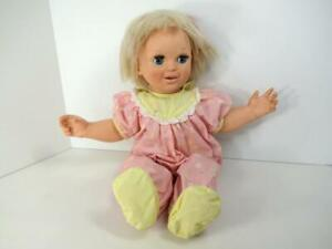 BABY TALK 1985 INTERACTIVE DOLL GALOOB TESTED WORKS TALKS/MOUTH MOVES EXCELLENT!