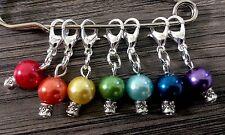 Marcadores de punto de ganchillo/tejer, contadores de chakra del arco iris