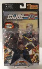 GI Joe Comic 2-Pack Snake Eyes & Storm Shadow 25th Anniversary  MOC