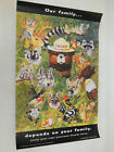 """usda SMOKEY THE BEAR """"Our Family depends on"""" Forest Fire Prevention Poster VTG"""