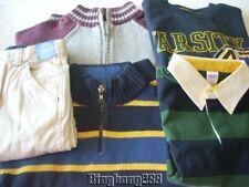 Gymboree VARSITY FOOTBALL Sweaters Polo Tops Pants Boy Lot Size 6 NWT - Fall