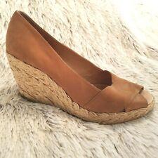 Michael Kors Black Women's Platform Wedge Heels Sandals Sz 8.5 Tan (A167)